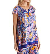 Ellen Tracy Cubana Cool Short Sleeve Top 8418521