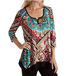 Ellen Tracy Medallion Long Sleeve Top 8418555