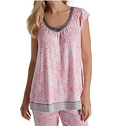 Ellen Tracy Heartfelt Short Sleeve Top 8418560