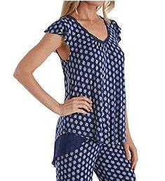 Ellen Tracy Geo Short Sleeve Top 8418669
