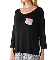 Ellen Tracy Holiday Bliss 3/4 Sleeve Top 8518496