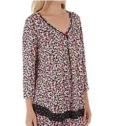 Ellen Tracy Midnight Dream 3/4 Sleeve Top 8521319
