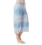 Ellen Tracy Paradise Ashore Wide Leg Crop Pant 8618501