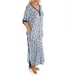 Ellen Tracy Blue Wave Long Caftan 8922936
