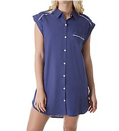 Fleur't Paradise City Button Down Nightshirt 2436