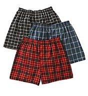 Fruit Of The Loom Traditional Tartan Assort Woven Boxer - 3 Pack 590