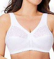 Glamorise Cotton Full Figure Support Wireless Bra 1001