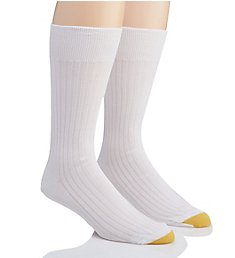 Gold Toe Comfort Top Non-Elastic English Rib Socks - 2 Pack 200NE
