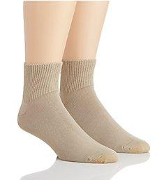 Gold Toe Wellness Non Binding Rayon Quarter Sock - 2 Pack 203P