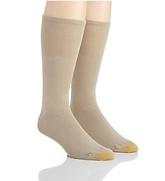 Gold Toe Wellness Non Binding Rayon Crew Sock- 2 Pack 204S