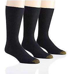 Gold Toe Fluffies 1x1 Rib Crew Socks - 3 Pack 523S