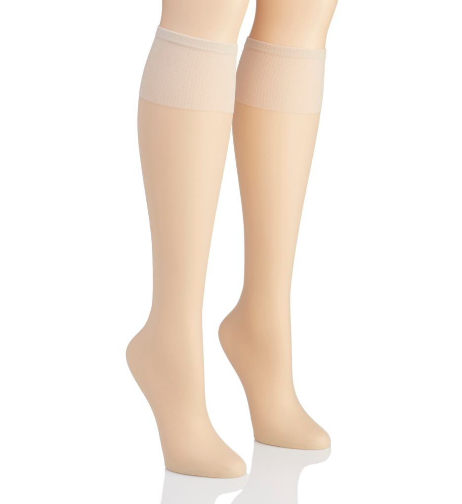 Hanes Silk Reflections Plus Silky Sheer Knee High - 2 Pk 00P19