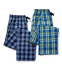 Hanes Tall Man Woven Plaid Pants - 2 Pack 4025T