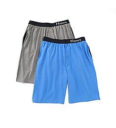 Hanes Classics 100% Cotton Knit Jam - 2 Pack 4034A