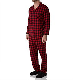 Hanes Tall Man Plaid Flannel Pajama Set 4039T