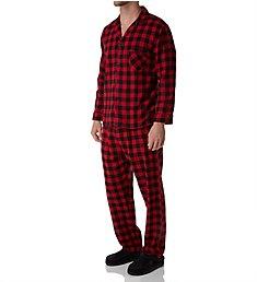 Hanes Tall Man Plaid Flannel Pajama Set 4039T