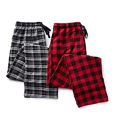 Hanes Big Man Plaid Flannel Pants - 2 Pack 4086B