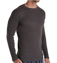Hanes Big Man Solid Long Sleeve Waffle Crew 4222X