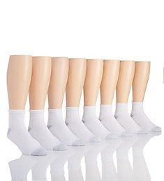 Hanes Big & Tall Classic Cotton Ankle Socks - 8 Pack 86U8P