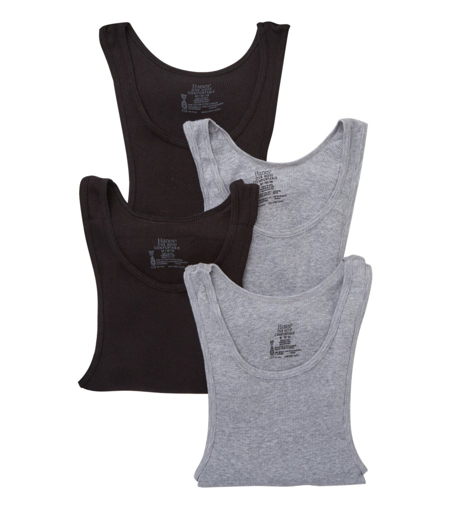 Hanes Platinum Tanks - 4 Pack Y392AS