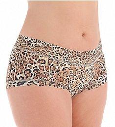 Hanky Panky Leopard Nouveau Plus Wide Band Boyshort Panty 4X1281X