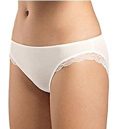 Hanro Fina Lace Trim Silk Blend Bikini Panty 72200