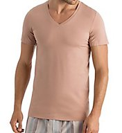 Hanro Cotton Superior V-Neck T-Shirt 73089