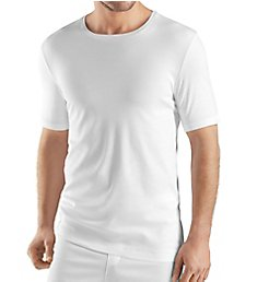 Hanro Sea Island Cotton Short Sleeve Crew Neck Shirt 73174
