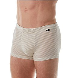 Hanro Sporty Stripe Mercerized Cotton Boxer Brief 74081