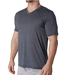 Hanro Sporty Stripe Mercerized Cotton V-Neck T-Shirt 74083