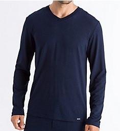 Hanro Casuals Long Sleeve V-Neck T-Shirt 75036