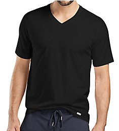 Hanro Living Short Sleeve V-Neck Shirt 75051