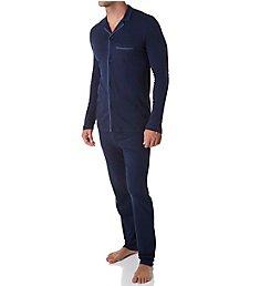 Hanro Narius Jersey Long Sleeve Button Front Pajama Set 75584