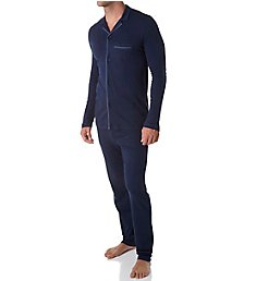 Hanro Narius Jersey Long Sleeve Button Front Pajama Set 75584