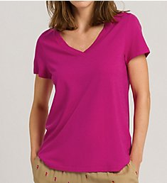 Hanro Sleep & Lounge Short Sleeve V-Neck Shirt 77876