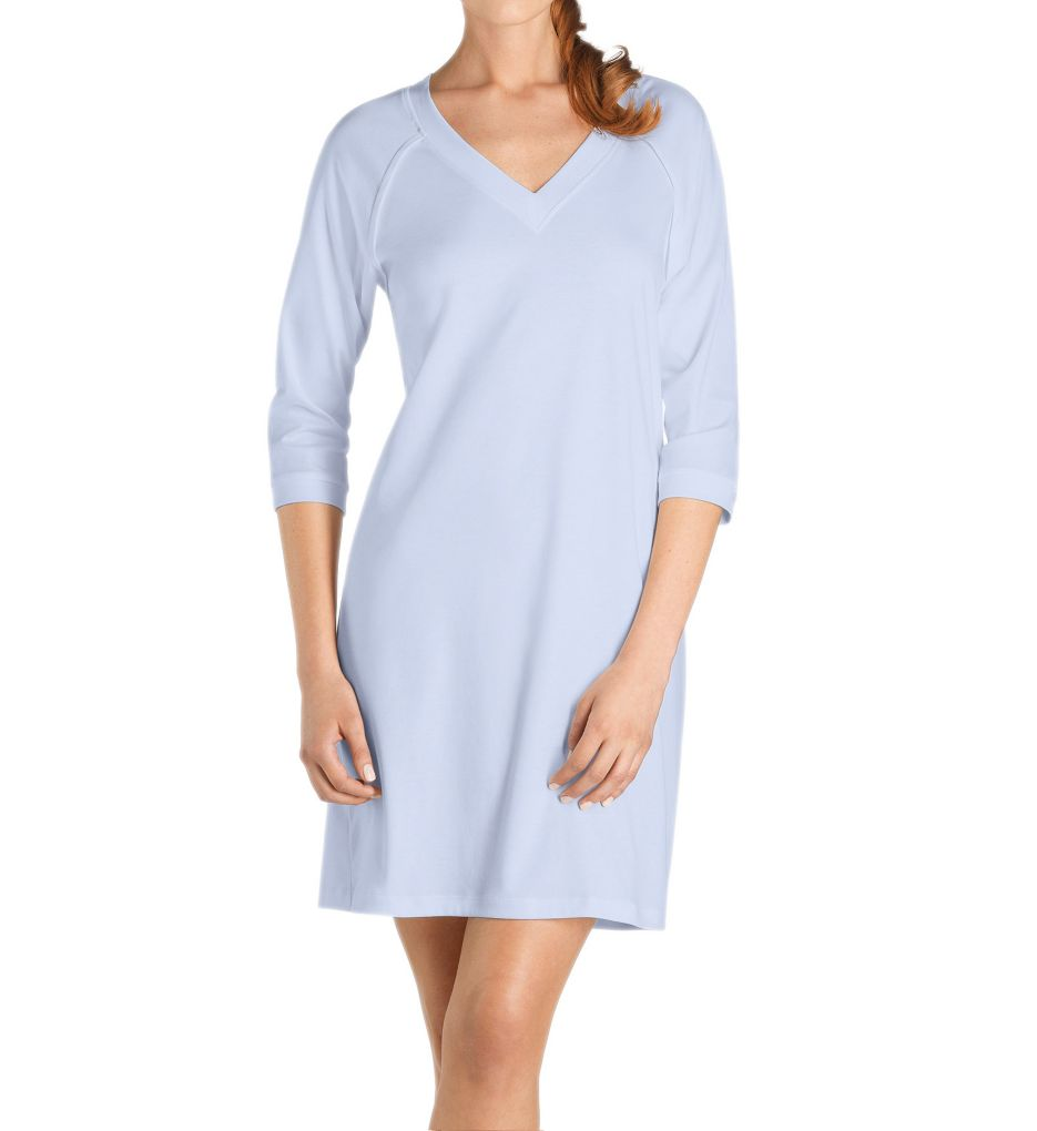 Hanro Pure Essence 3/4 Sleeve V Neck Sleep Gown 77948