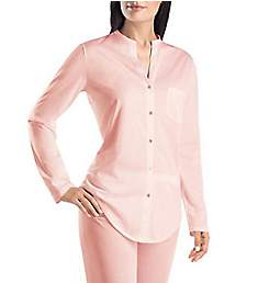 Hanro Cotton Deluxe Button Front Pajama Set 7956