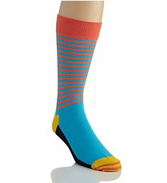 Happy Socks Half Stripe Combed Cotton Crew Sock HAS016001