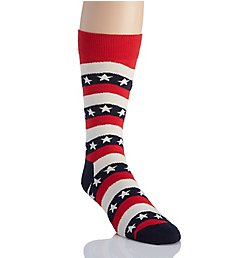 Happy Socks Wavy Stripe Combed Cotton Crew Sock WVY014000