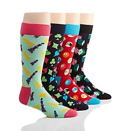 Happy Socks Game Night Socks - 4 Pack Gift Set XGAM96300