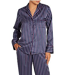 In Bloom by Jonquil Whistler Striped PJ Set WHS245