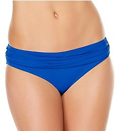 Jantzen Solid Shirred Waist Brief Swim Bottom 7007