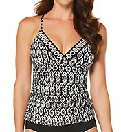 Jantzen Diamond Daze Strappy Back Tankini Swim Top 7032