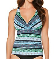 Jantzen Geo Graphic V-Neck Tankini Swim Top 7119