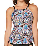 Jantzen Vibrant Paisley High Neck Tankini Swim Top 7164
