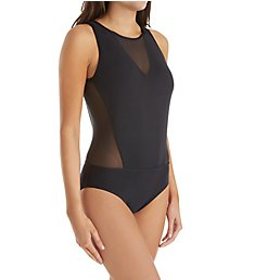 Jantzen Mesh Solids Tummy Control One Piece Swimsuit 8105