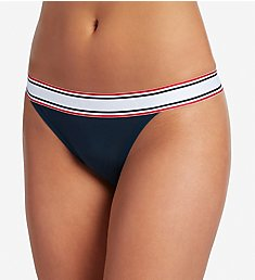 Jockey Retro Stripe Cotton Blend Thong Panty 2251