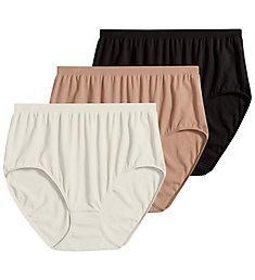 Jockey Comfies Microfiber Classic Brief Panty - 3 Pack 3328