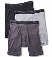 Jockey Stay Cool Plus Midway Boxer Briefs - 3 Pack 8104