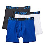 Jockey Low Rise Cotton Midway Boxer Brief - 3 Pack 8486